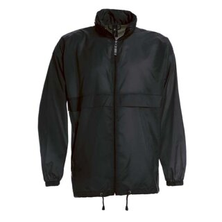 Damen und Herren Regenjacke | B&C schwarz XL