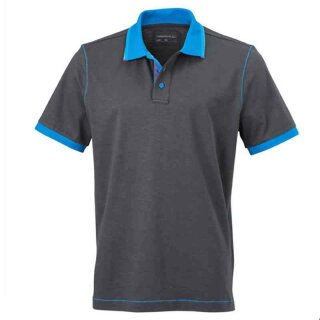 Urban Poloshirt | James & Nicholson graphit/azur XL