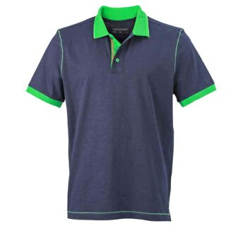Urban Poloshirt | James & Nicholson navy/farngrün XXL