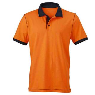 Urban Poloshirt | James & Nicholson orange/navy L