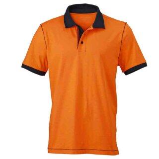 Urban Poloshirt | James & Nicholson orange/navy 3XL