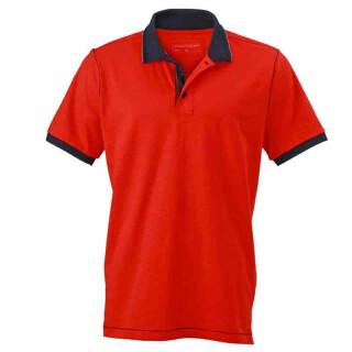 Urban Poloshirt | James & Nicholson tomate/navy XL