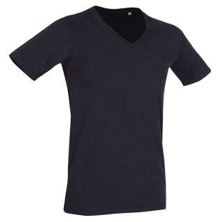 Deep V-Neck T-Shirt Dean | Stedman schwarz M