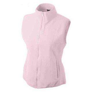 Leichte Damen Fleeceweste | James & Nicholson light-pink L