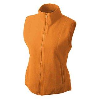 Leichte Damen Fleeceweste | James & Nicholson orange XL