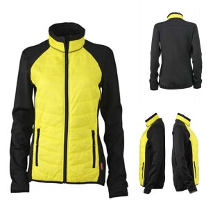 Damen Hybridjacke | James & Nicholson black/yellow/black M
