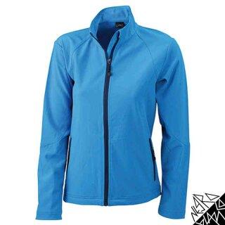 Damen Softshell Jacke | James & Nicholson blau L