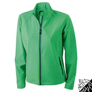 Damen Softshell Jacke | James & Nicholson grün XXL