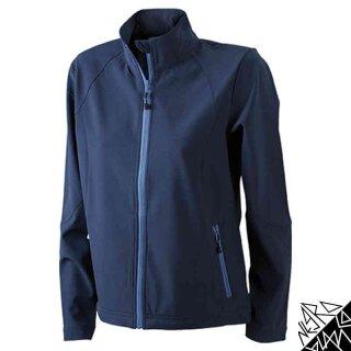Damen Softshell Jacke | James & Nicholson navy S