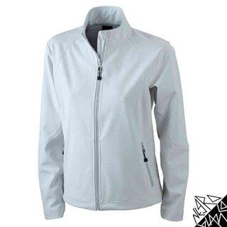 Damen Softshell Jacke | James & Nicholson off-white XXL