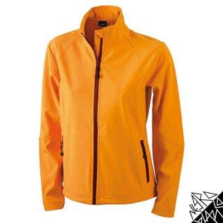 Damen Softshell Jacke   James & Nicholson orange L