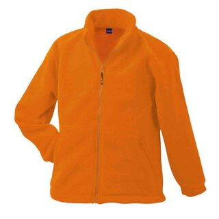 Kinder Fleecejacke | James & Nicholson orange M