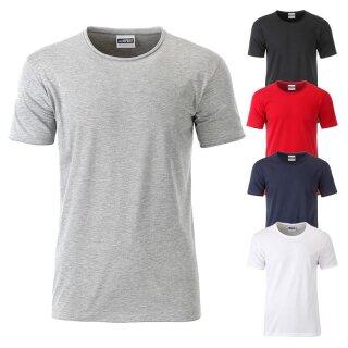 Herren Bio T-Shirt mit Rollsaum   James & Nicholson
