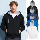 Contrasted Zipped Hooded Jacket Soul Men | Sols