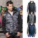 Herren Hooded Fleece Sleeved Puffer Vest | Burnside