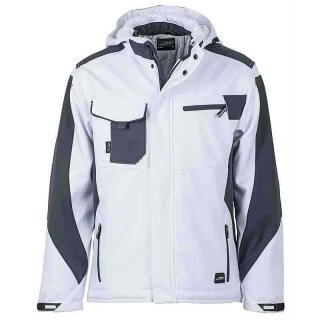 Workwear Winter Softshell Jacke - STRONG - (white/carbon)