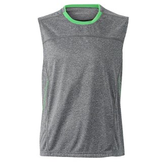 grau-meliert grün