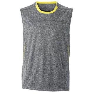 grau-meliert/gelb