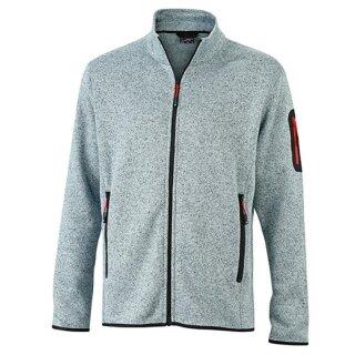 light-grey-melange/red