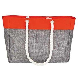 Grey-Melange/Neon-Orange